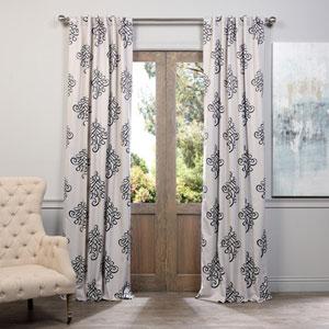 Tugra Black 50 x 96-Inch Blackout Curtain