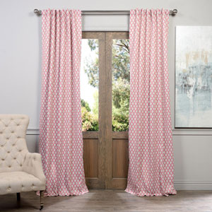Casablanca Pink and Beige 50 x 96-Inch Blackout Curtain