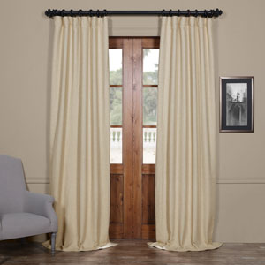 Candlelight Beige 120 x 50-Inch Bellino Blackout Curtain Single Panel