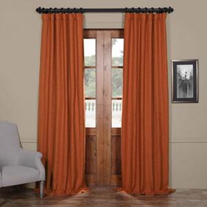 Persimmon Orange 50 x 108-Inch Blackout Curtain