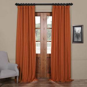Persimmon Orange 50 x 96-Inch Blackout Curtain