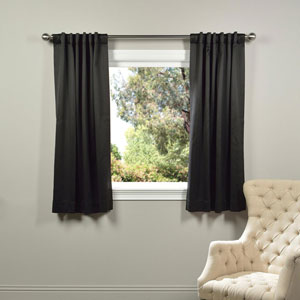 Black 63 x 50-Inch Blackout Curtain Panel Pair