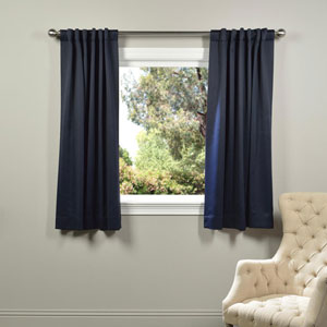 Blue 63 x 50-Inch Blackout Curtain Panel Pair