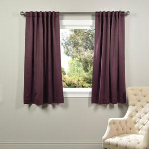 Purple 63 x 50-Inch Blackout Curtain Panel Pair