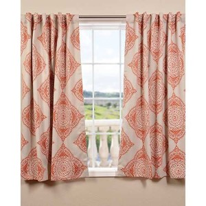 Henna Orange 63 x 50-Inch Blackout Curtain Single Panel