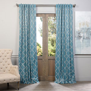 Seville Dusty Teal 96 x 50-Inch Blackout Curtain Single Panel