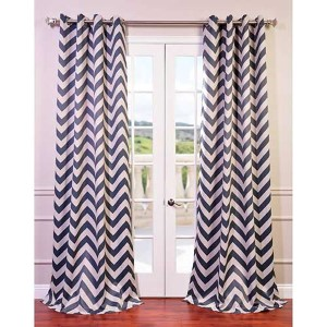 Fez Gray and Tan 120 x 50-Inch Grommet Blackout Curtain Single Panel