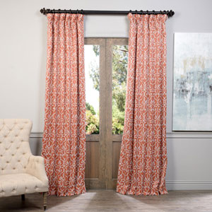 Rust Nouveau 50 x 120-Inch Blackout Curtain