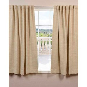 Candlelight Beige 63 x 50-Inch Bellino Blackout Curtain Single Panel