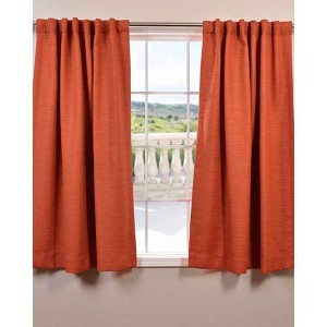 Persimmon Orange 63 x 50-Inch Bellino Blackout Curtain Single Panel