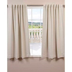 Cottage White 63 x 50-Inch Bellino Blackout Curtain Single Panel