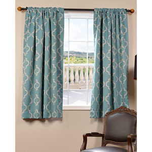Seville Dusty Teal 63 x 50-Inch Blackout Curtain Single Panel