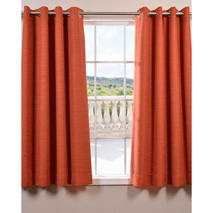 Bellino Persimmon 63 x 50-Inch Grommet Blackout Curtain Single Panel