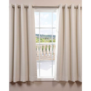Bellino Cottage White 63 x 50-Inch Grommet Blackout Curtain Single Panel