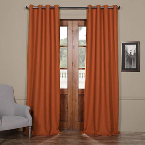Persimmon 84 x 50-Inch Bellino Grommet Blackout Curtain Single Panel