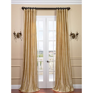 Biscotti Textured Dupioni Silk Single Panel Curtain, 50 X 84