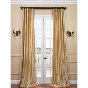 Biscotti Textured Dupioni Silk Single Panel Curtain, 50 X 84