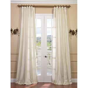 Pearl Textured Dupioni Silk Single Panel Curtain, 50 X 108