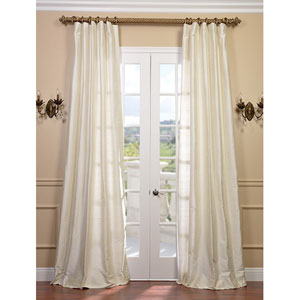 Pearl Textured Dupioni Silk Single Panel Curtain, 50 X 96
