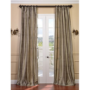 Cashmere Textured Dupioni Silk Single Panel Curtain, 50 X 108