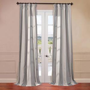 Del Mar Grey 50 x 108-Inch Blend Stripe Curtain