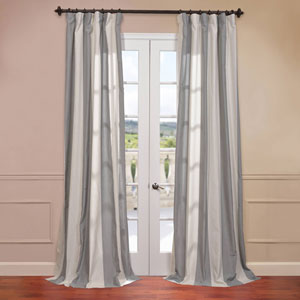 Del Mar Grey 50 x 96-Inch Blend Stripe Curtain