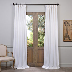 White 108 x 50-Inch Curtain Single Panel