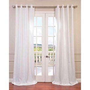 White 120 x 50-Inch Grommet Curtain Single Panel