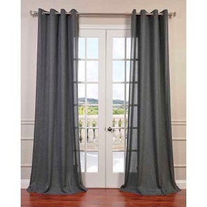 Phantom Gray 84 x 50-Inch Grommet Curtain Single Panel