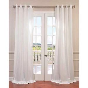 Cloud White 84 x 50-Inch Grommet Curtain Single Panel
