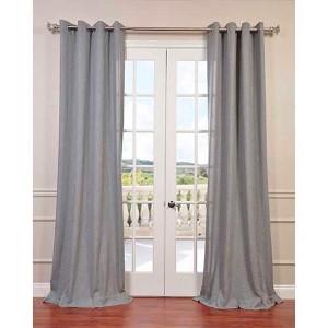 Heather Gray 108 x 50-Inch Grommet Curtain Single Panel