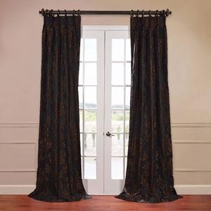 Magdelena Black 50 x 120-Inch Jacquard Curtain
