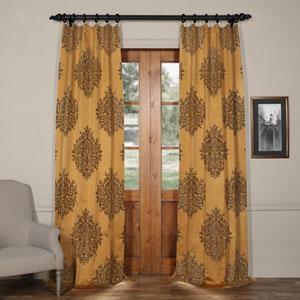 Ellaria Olympic Bronze 108 x 50-Inch Faux Silk Jacquard Curtain