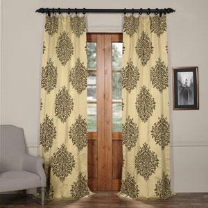 Ellaria Silver Dew 96 x 50-Inch Faux Silk Jacquard Curtain