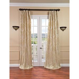 Magdelena Champagne Faux Silk Jacquard Single Panel Curtain, 50 X 108