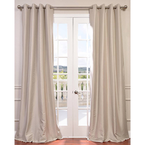 Antique Beige 96 x 50-Inch Grommet Blackout Faux Silk Taffeta Curtain Single Panel