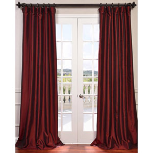 Syrah 108 x 50-Inch Blackout Faux Silk Taffeta Curtain Single Panel