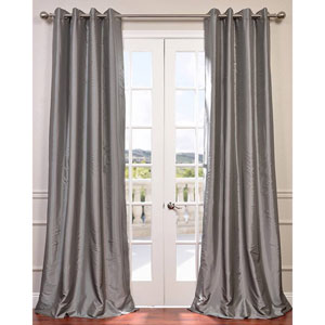 Platinum 84 x 50-Inch Grommet Blackout Faux Silk Taffeta Curtain Single Panel