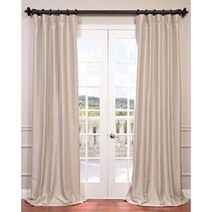 Antique Beige 108 x 50-Inch Blackout Faux Silk Taffeta Curtain Single Panel