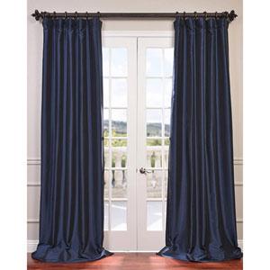 Navy Blue 84 x 50-Inch Blackout Faux Silk Taffeta Curtain Single Panel