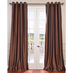 Copper Brown 96 x 50-Inch Grommet Blackout Faux Silk Taffeta Curtain Single Panel