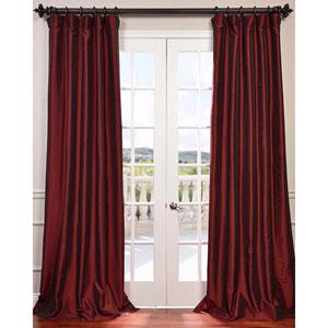 Syrah 84 x 50-Inch Blackout Faux Silk Taffeta Curtain Single Panel