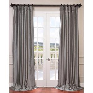 Platinum 120 x 50-Inch Grommet Blackout Faux Silk Taffeta Curtain Single Panel