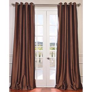 Copper Brown 108 x 50-Inch Grommet Blackout Faux Silk Taffeta Curtain Single Panel