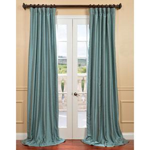 Yarn Dyed Blue 50 x 120-Inch Dupioni Curtain