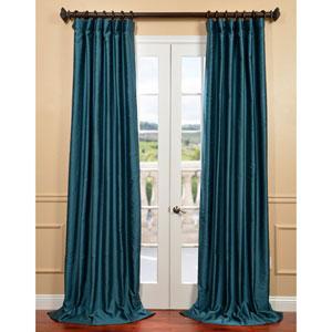 Fiji Yarn Green 50 x 96-Inch Dupioni Curtain