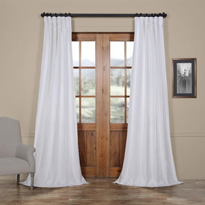 Ice Vintage Textured Faux Dupioni Silk Single Panel Curtain, 50 X 84