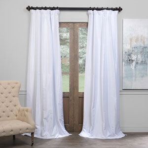 Ice 50 x 96-Inch Blackout Vintage Textured Faux Dupioni Silk Curtain