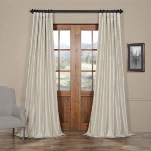 Mist Gray 50 x 120-Inch Vintage Textured Faux Dupioni Silk Curtain