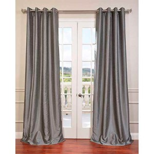 Storm Gray 96 x 50-Inch Vintage Textured Blackout Curtain Single Panel